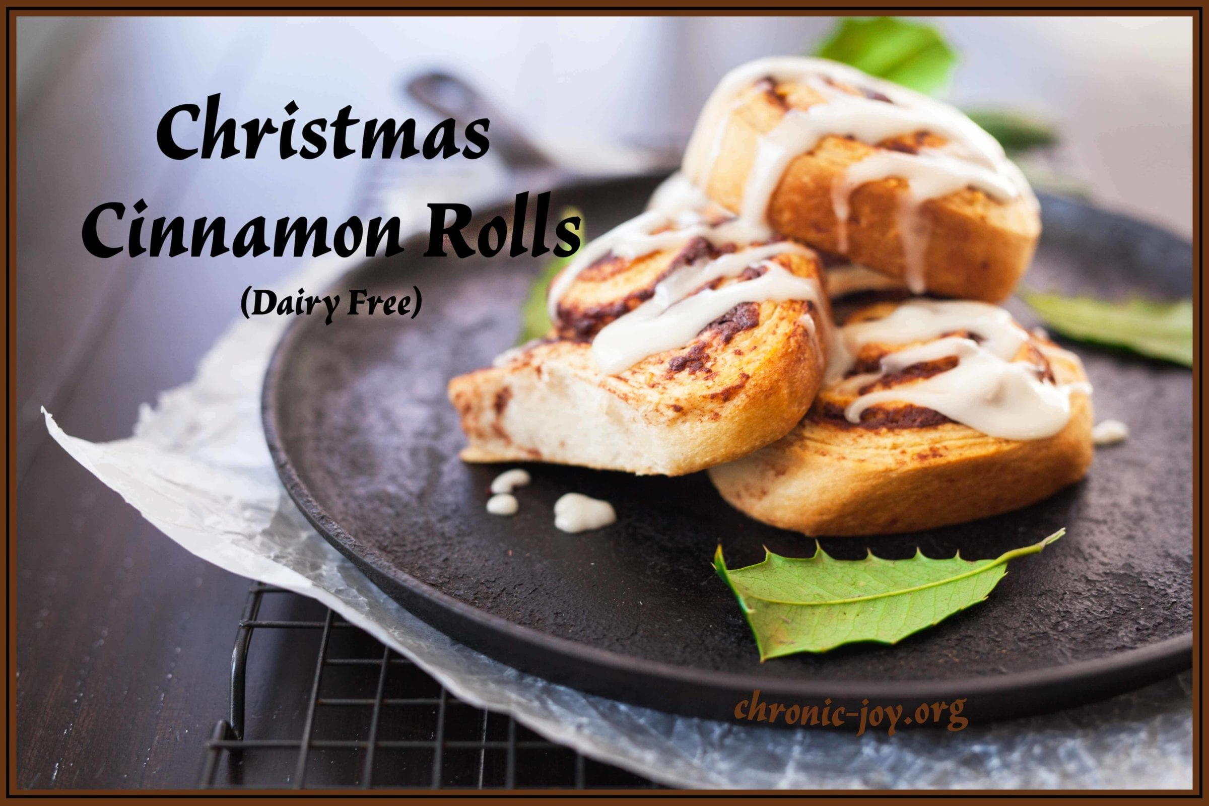 Cinnamon Rolls For Christmas • Dairy Free