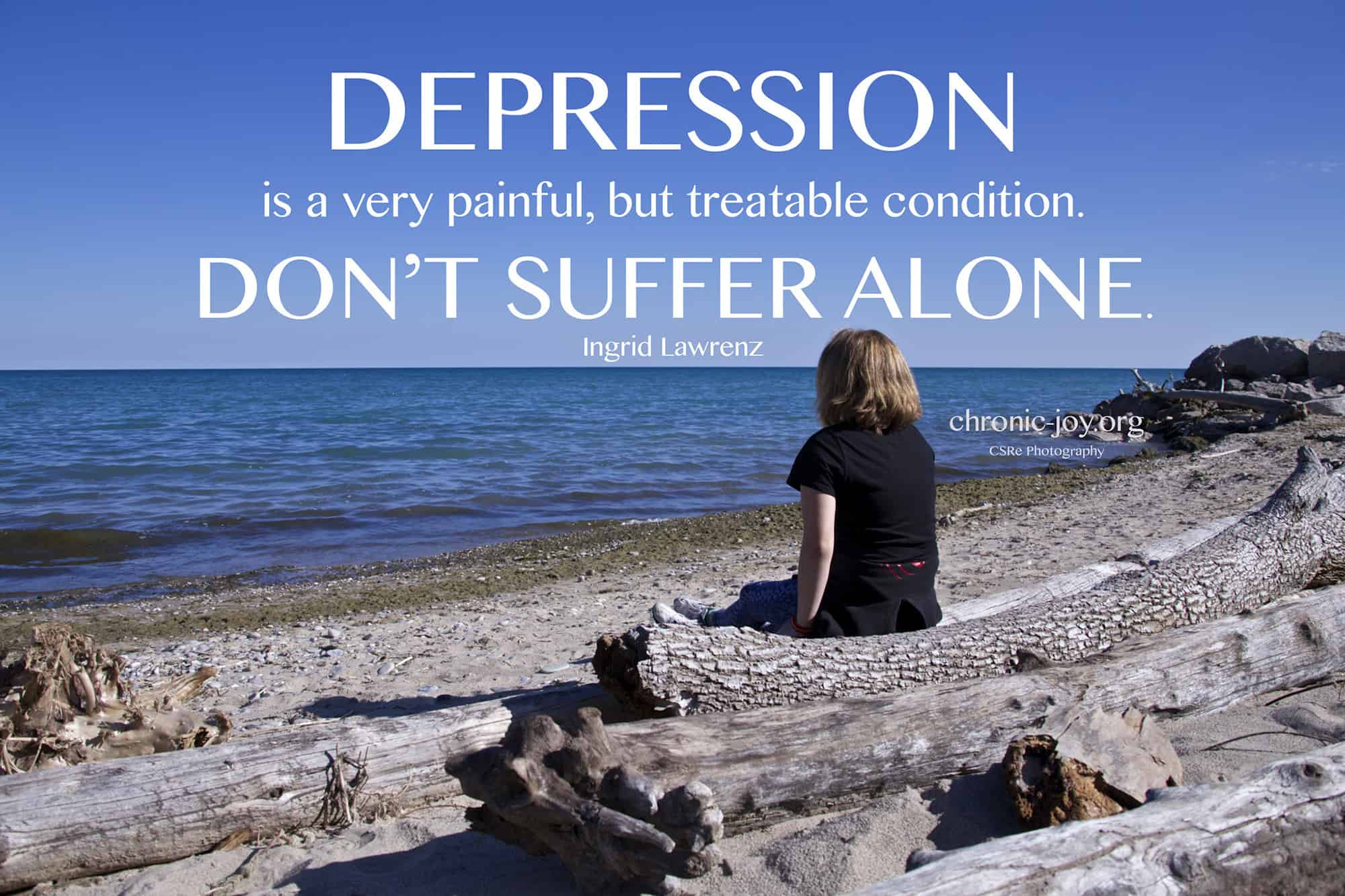 Depression is very painful.