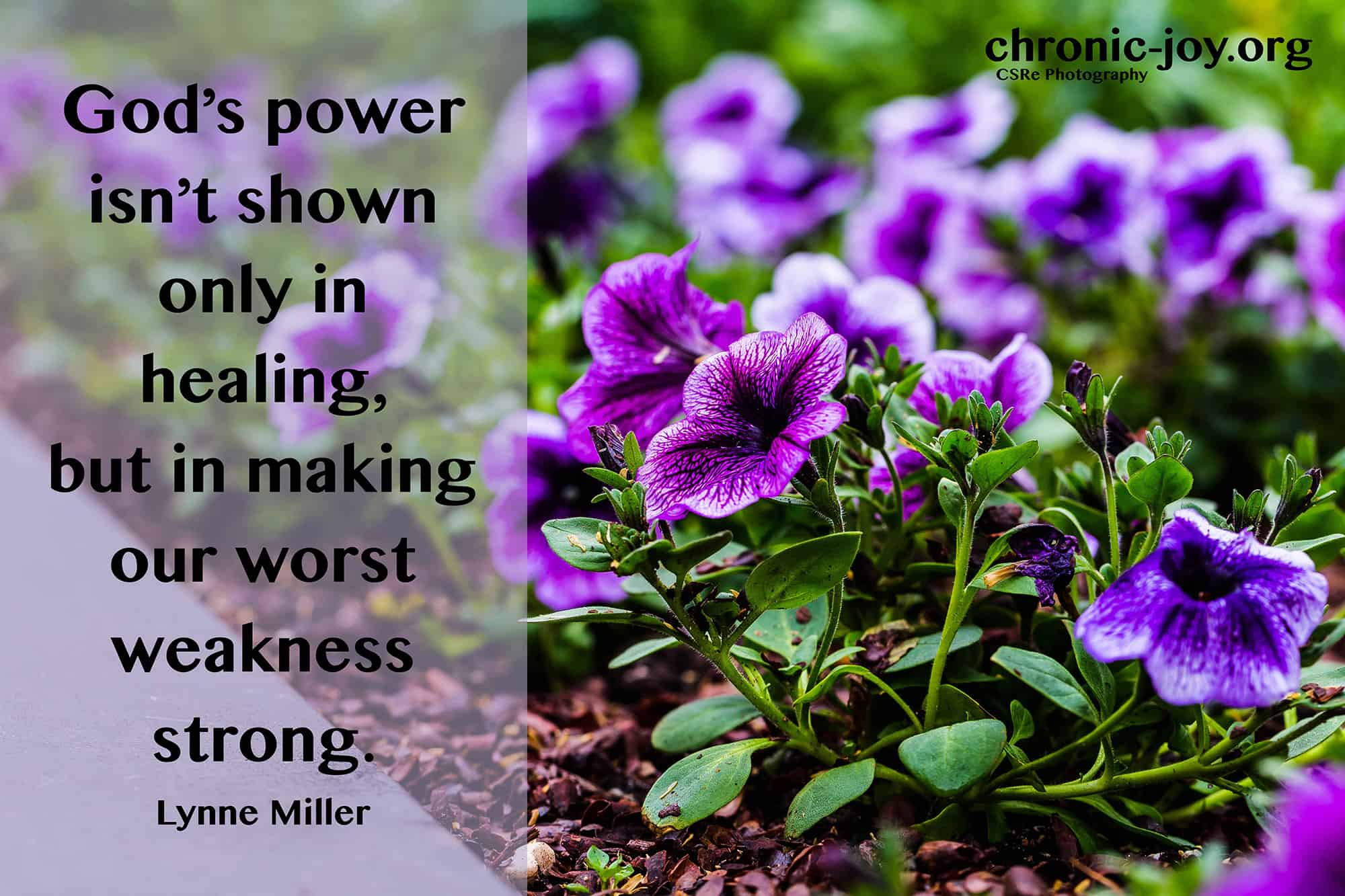 God's power isn't shown only in healing...