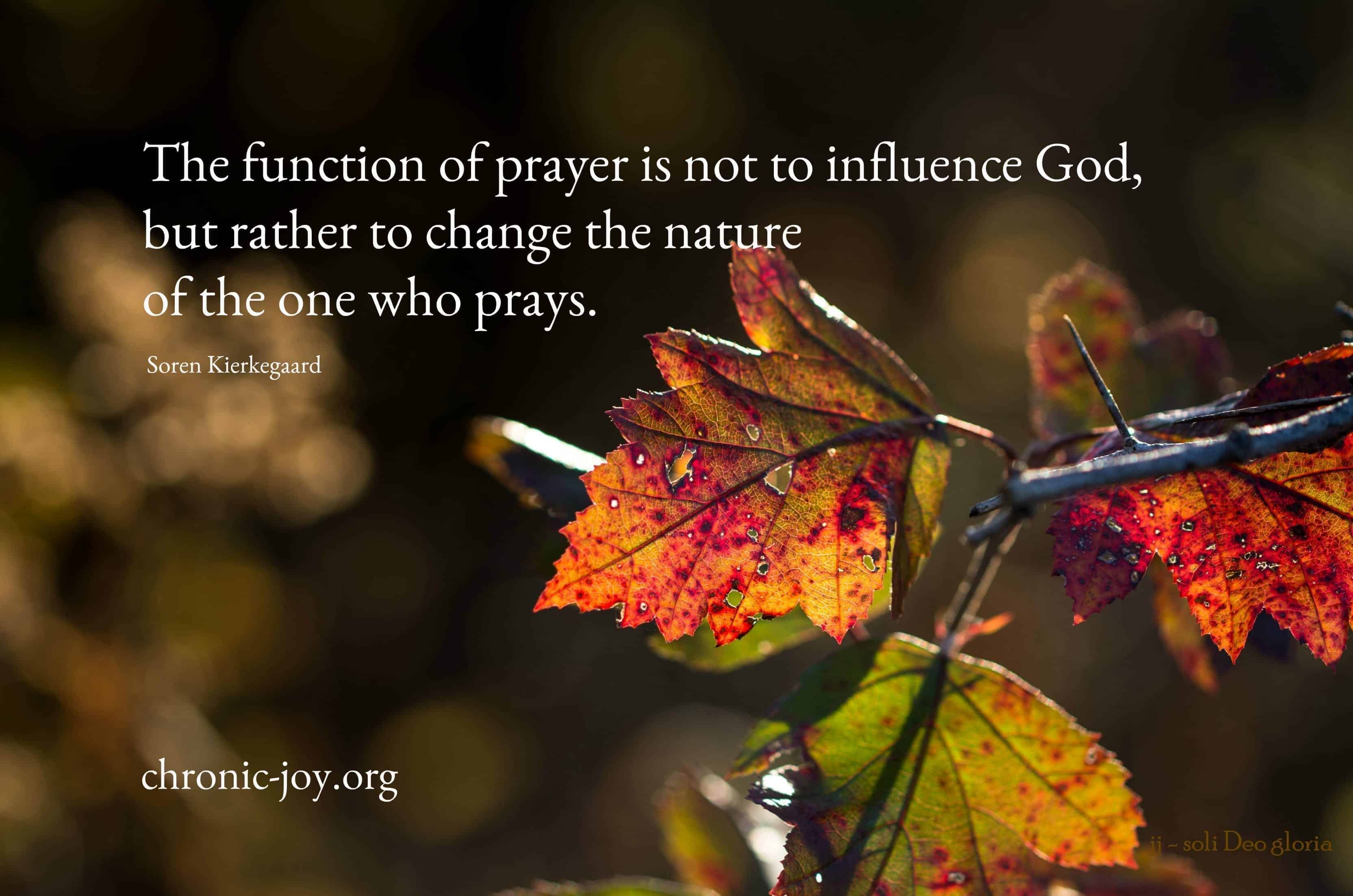The One Who Prays