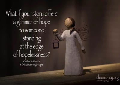 What if your story offers a glimmer of hope?