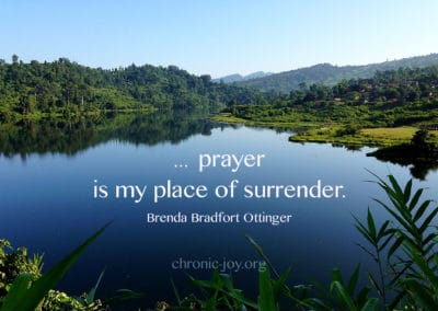 prayer is my place of surrender