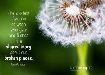 The shortest distance between strangers...