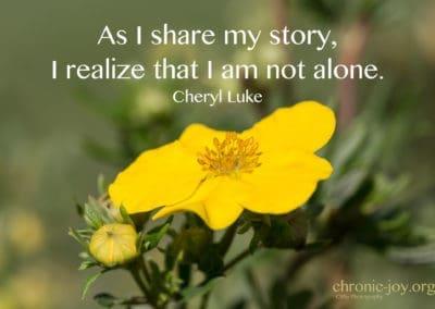 As I share my story...