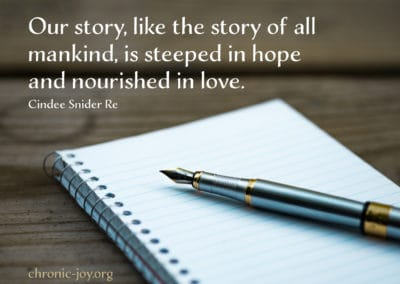 Our story is steeped in love.