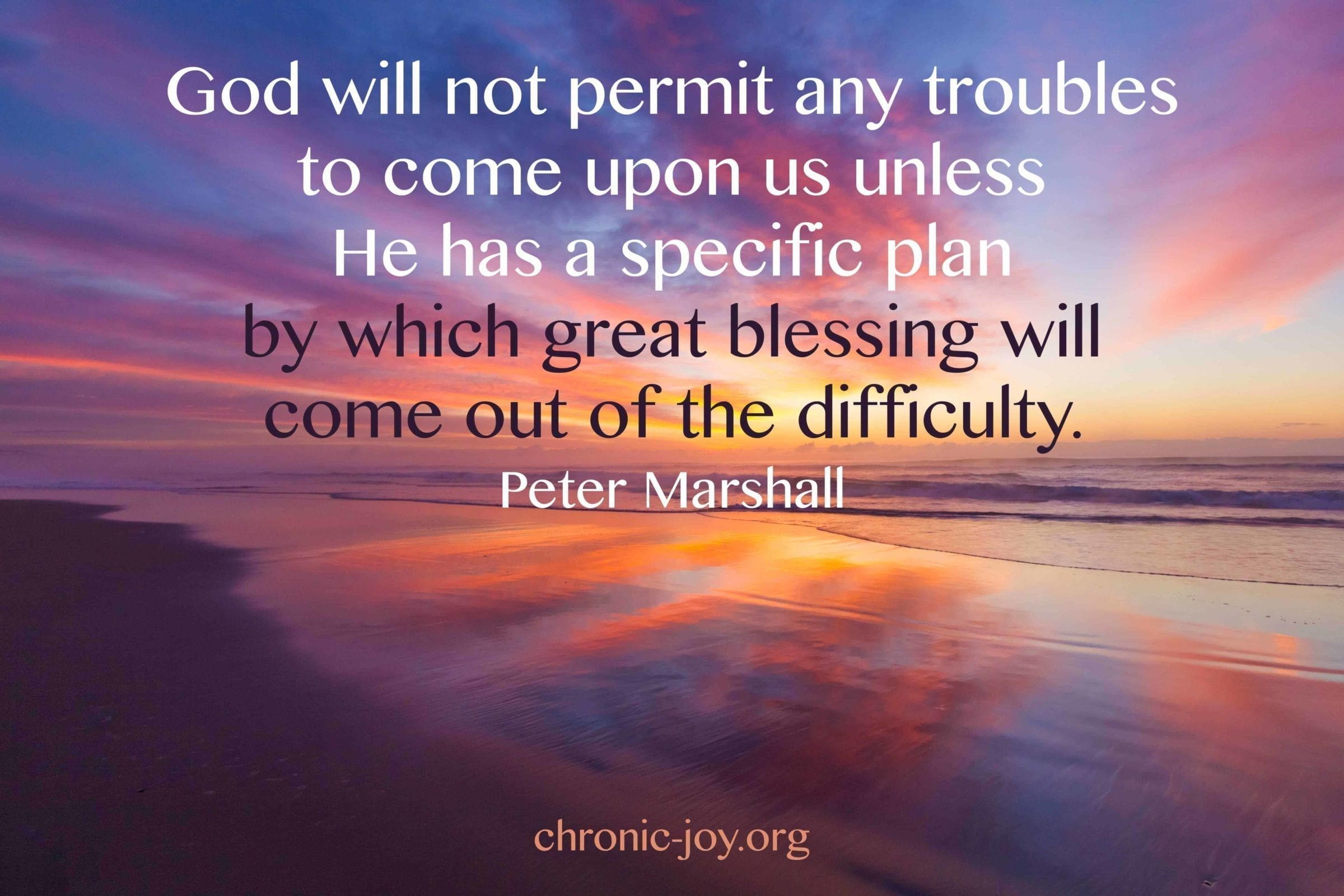 Great blessing from difficulty.
