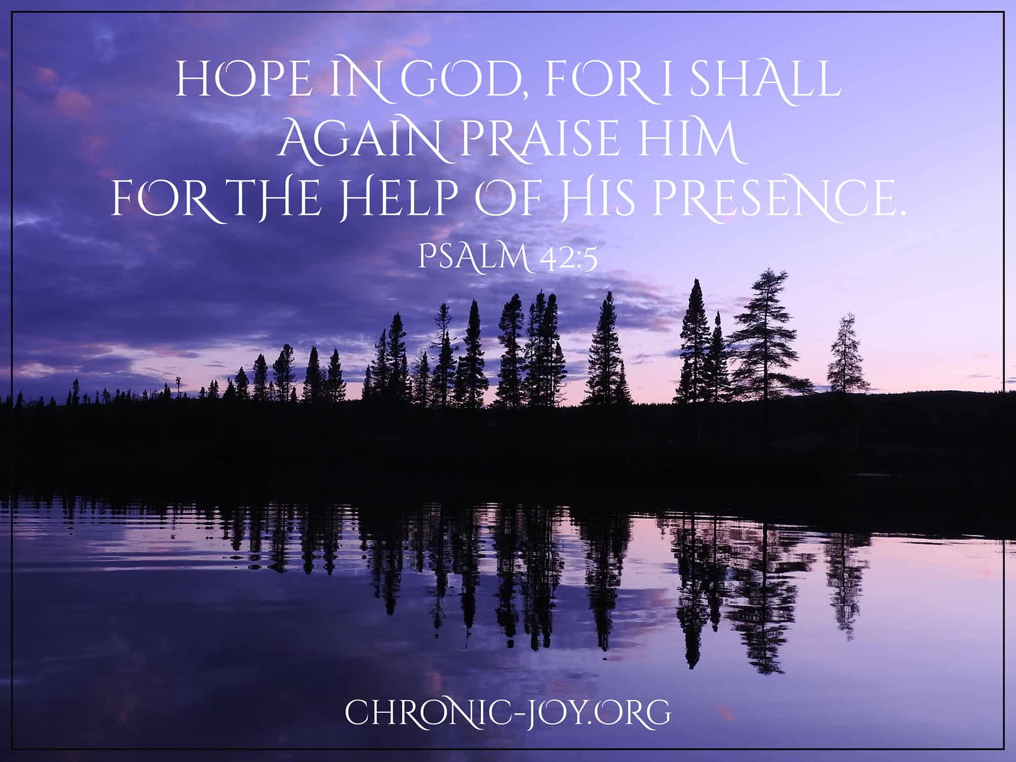 Hope in God, for I shall again praise Him.