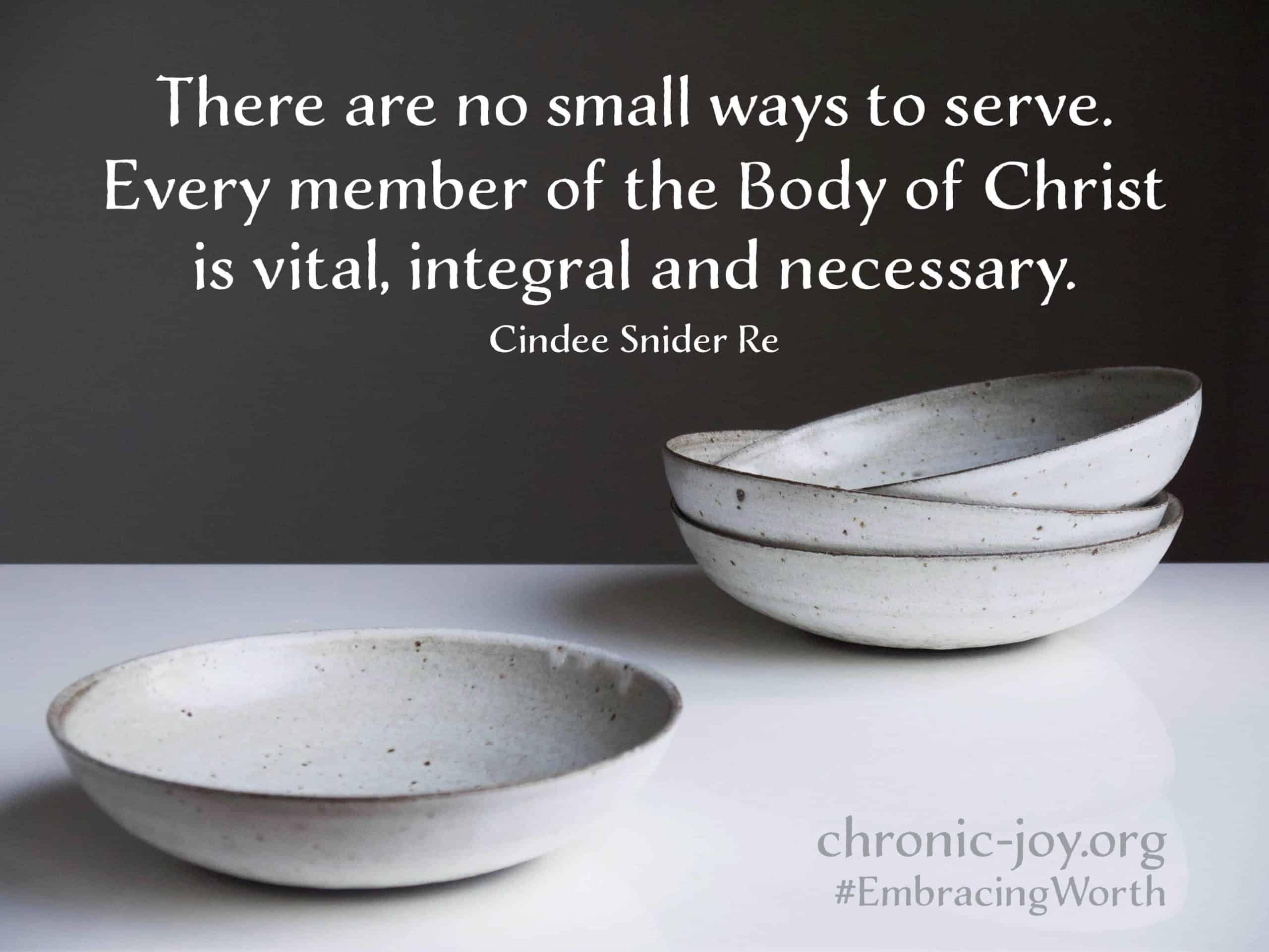 No small way to serve