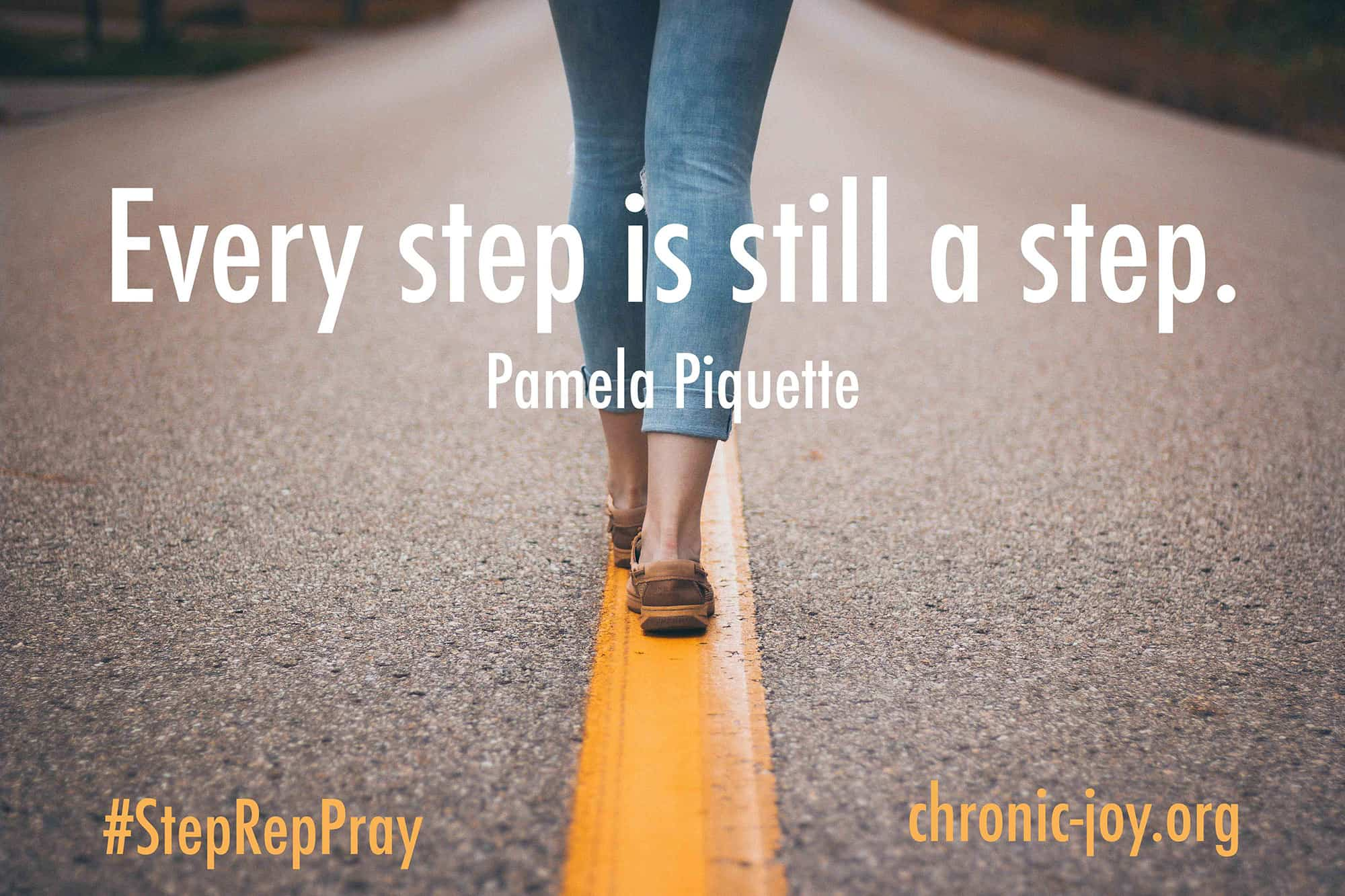 Every step is still a step.