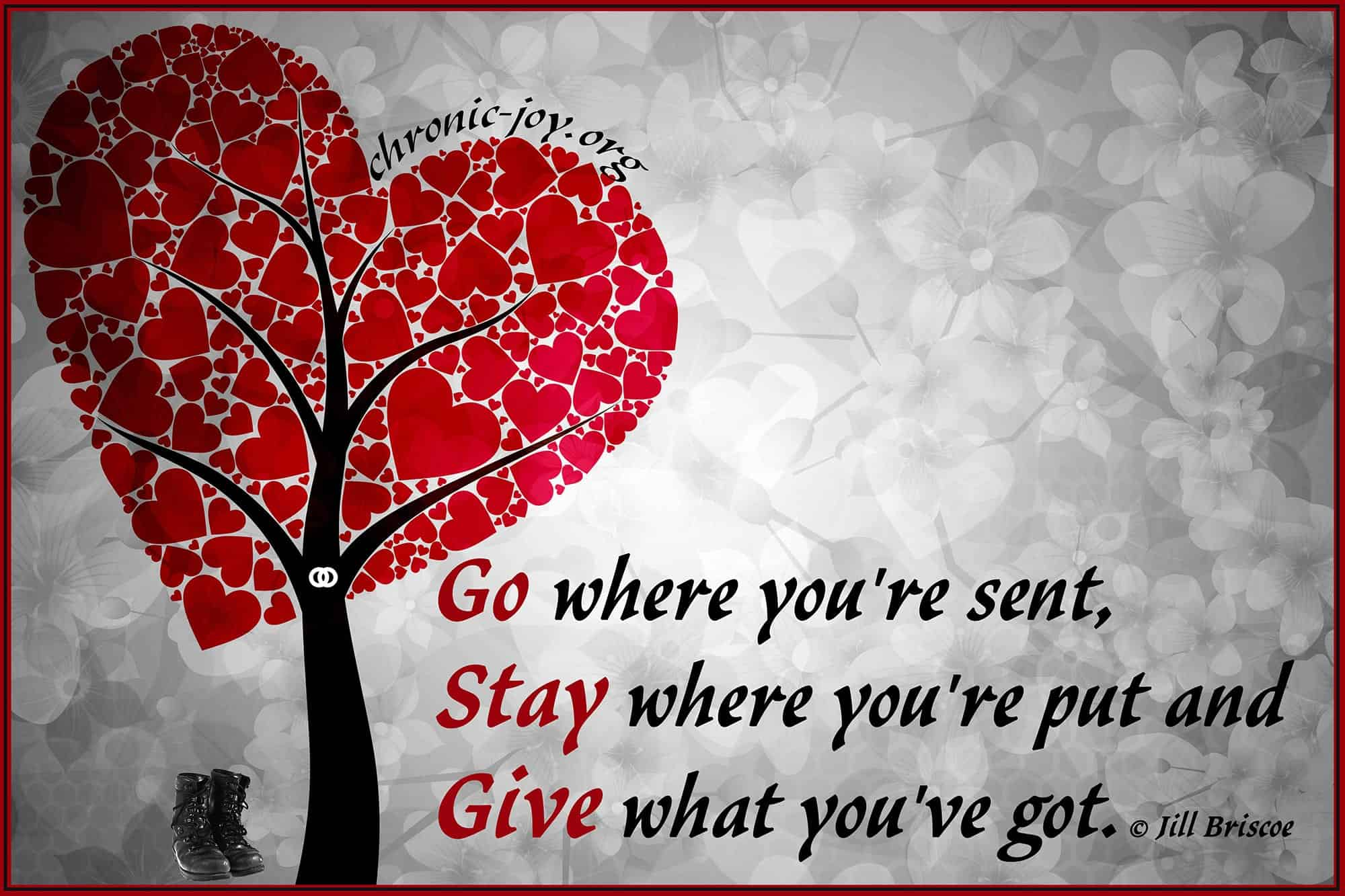 Go, Stay, and Give