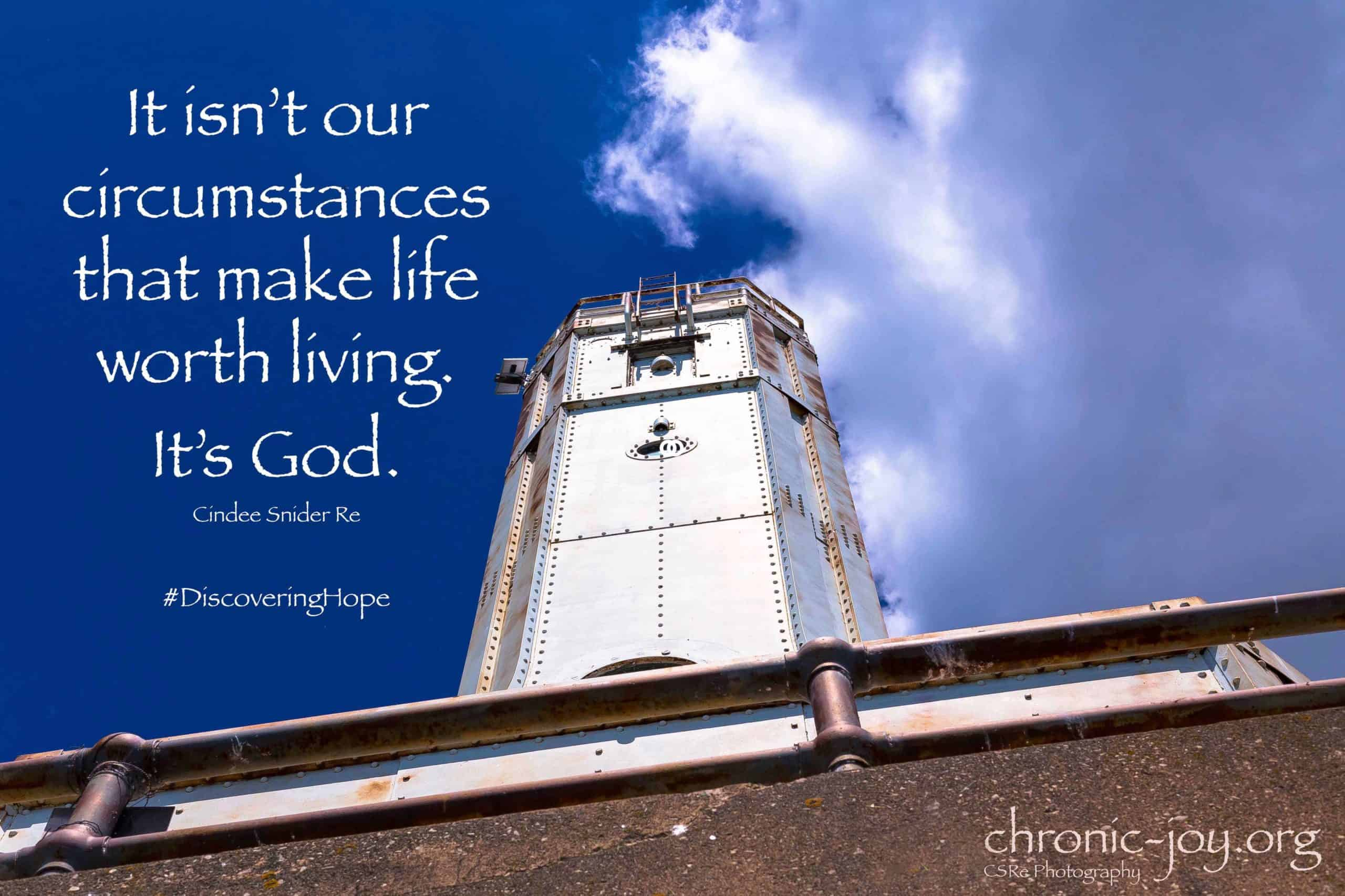 It isn't our circumstances...