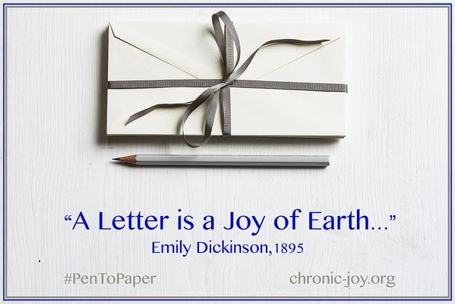 A letter is a joy of earth...