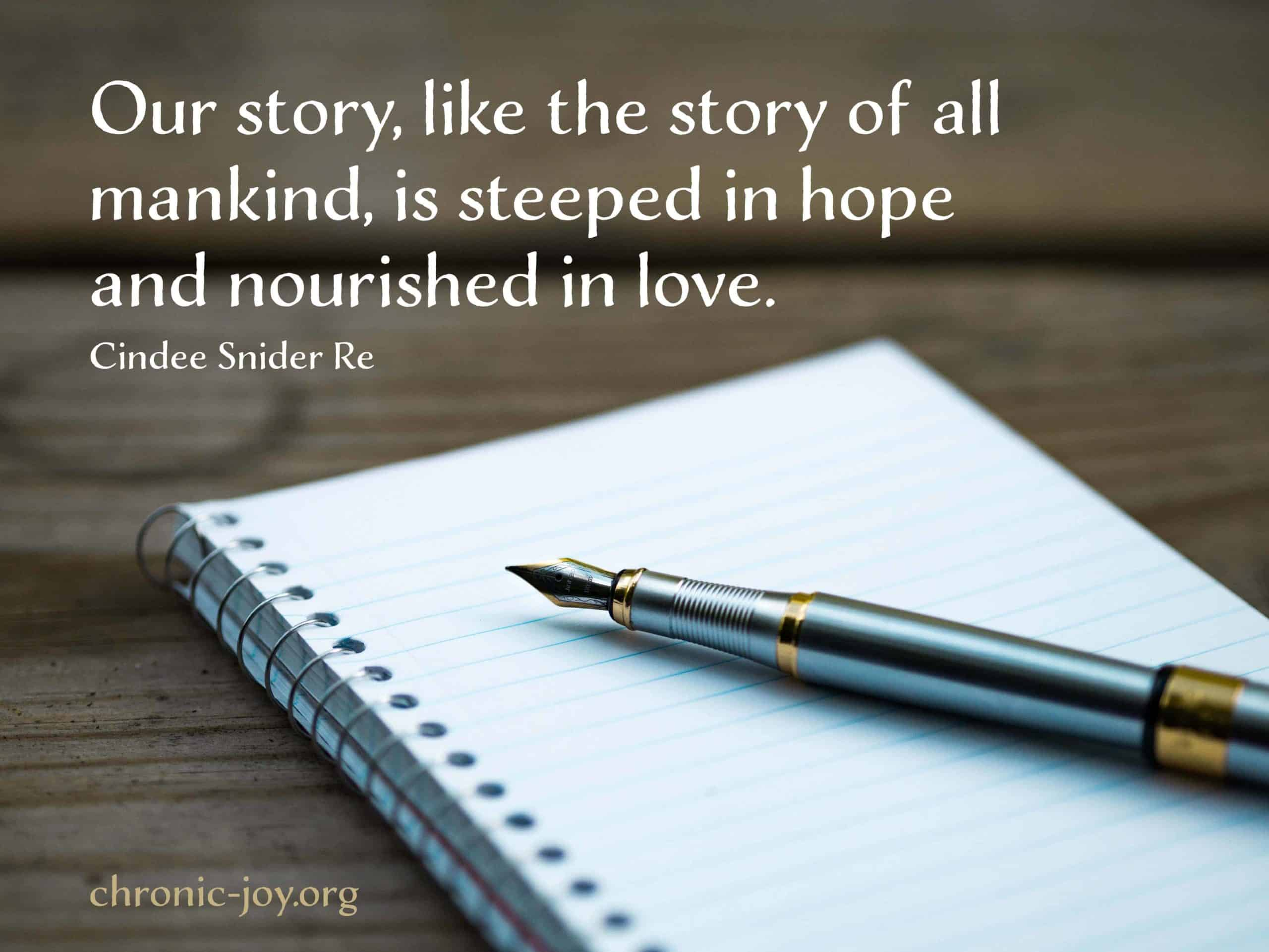 Steeped in hope