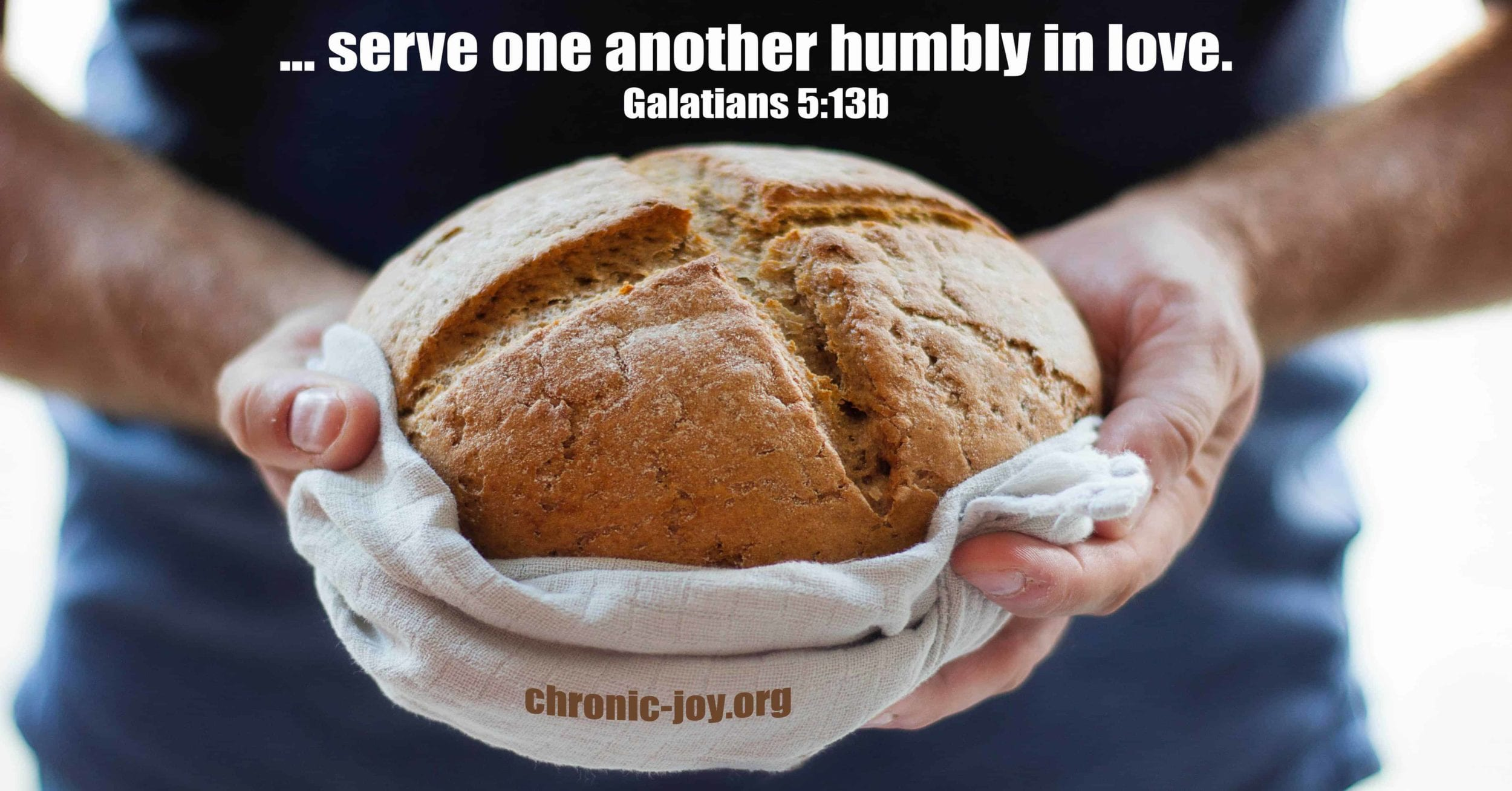 ... serve one another humbly in love.
