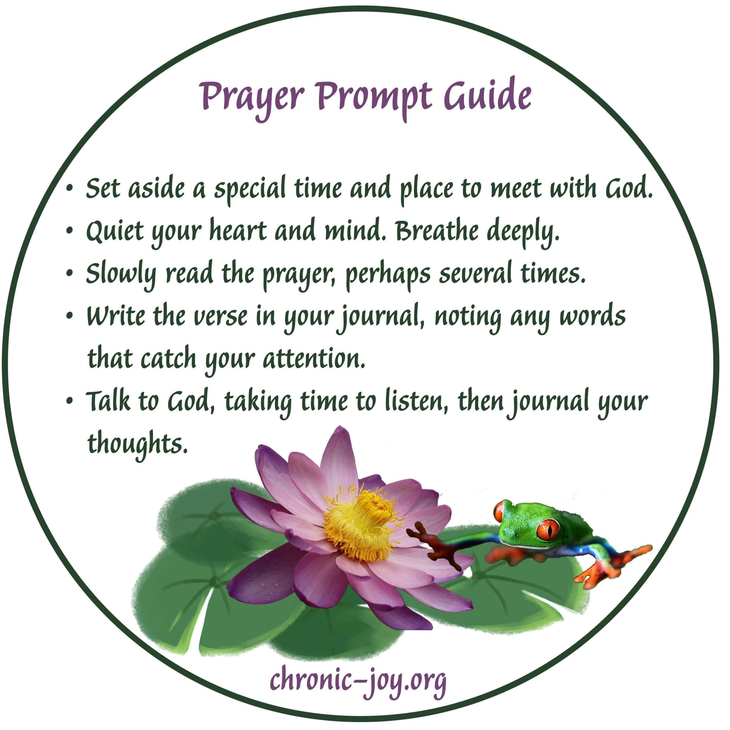 Prayer Prompt Guide
