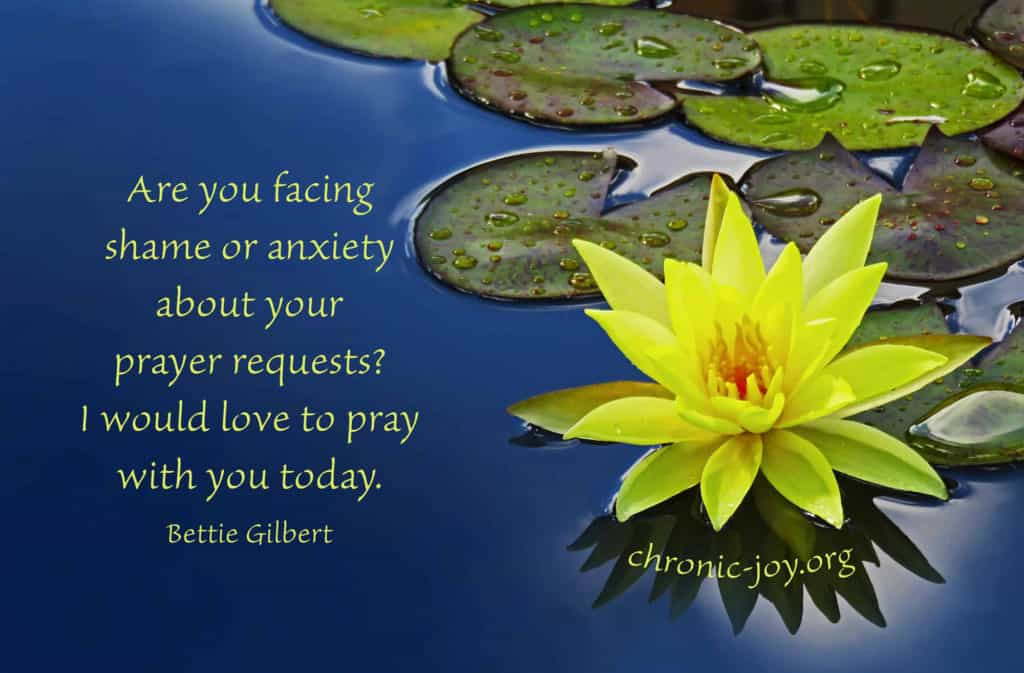 Are you facing shame or anxiety about your prayer requests?