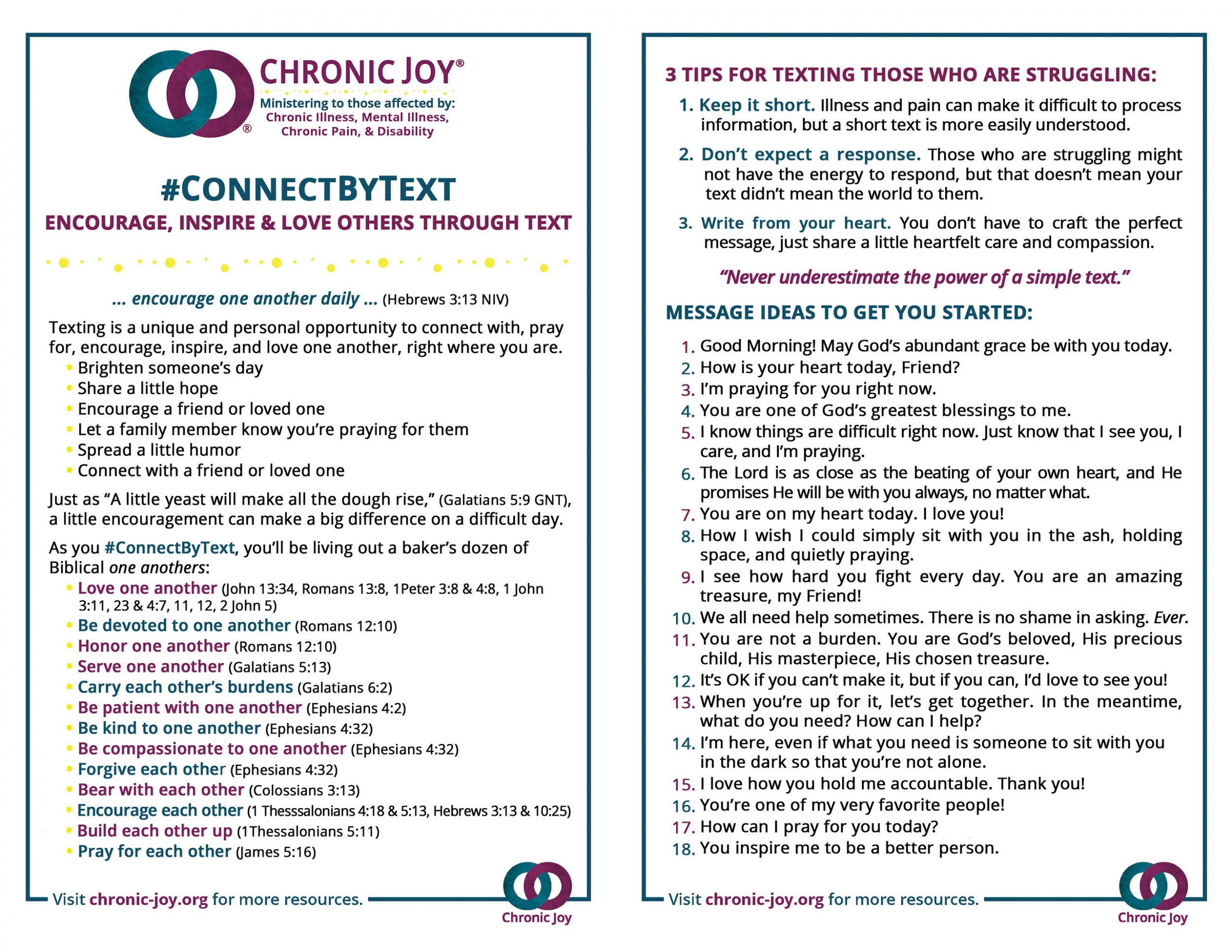 #ConnectByText Guide