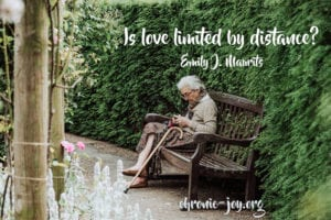 """""""Is love limited by distance?"""" Emily J. Maurits"""