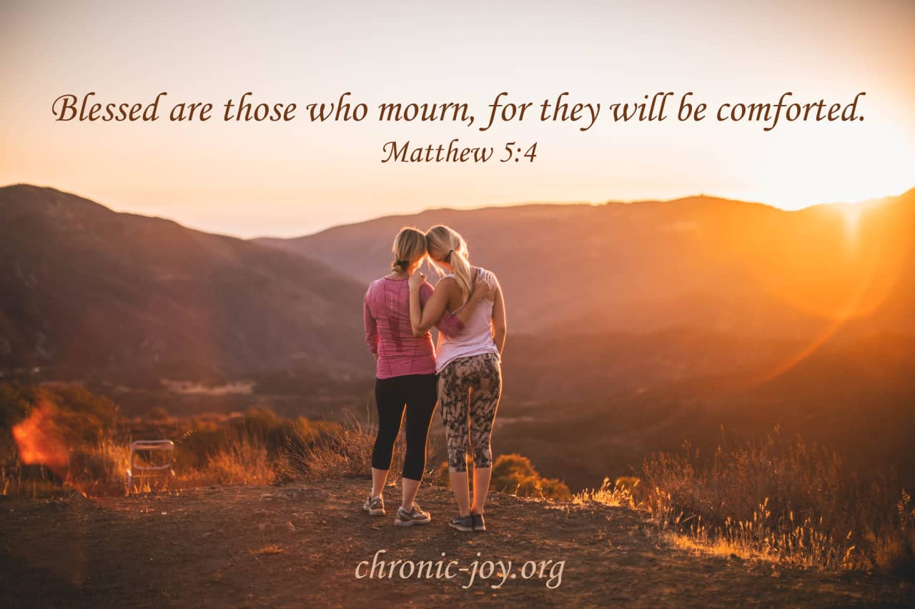 Blessed are those who mourn...