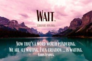 wait poetry prompt