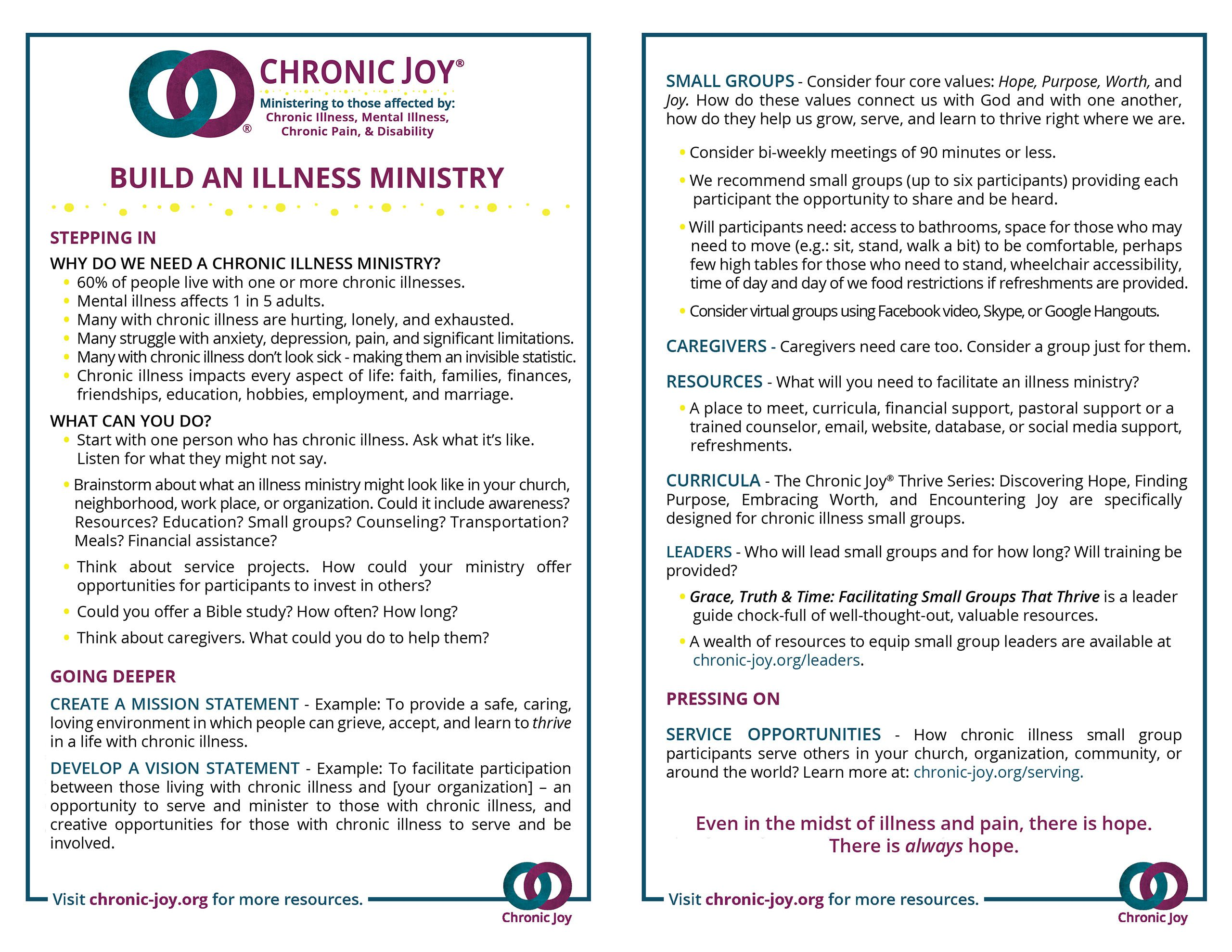 Build An Illness Ministry