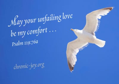May your unfailing love be my comfort …