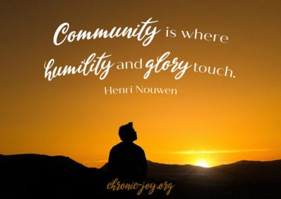 Community where humility and glory meet.