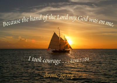 Because the hand of the Lord my God was on me, I took courage …