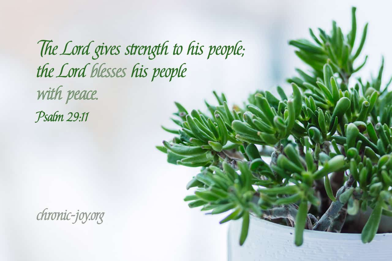 The Lord gives strength to his people...