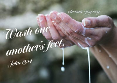 Wash one another's feet.