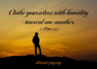 Clothe yourself with humility toward one another.