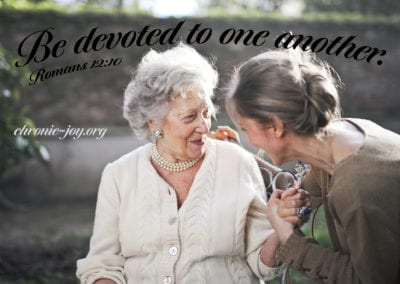 Be devoted to one another.