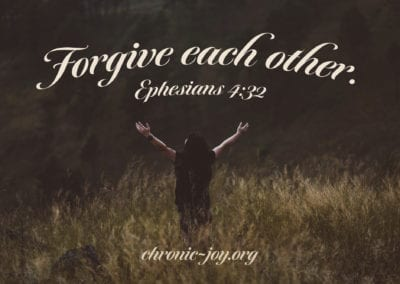 Forgive each other.