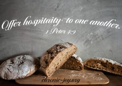 Offer hospitality to one another.