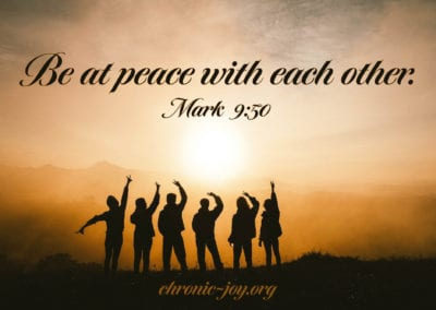 Be at peace with each other.