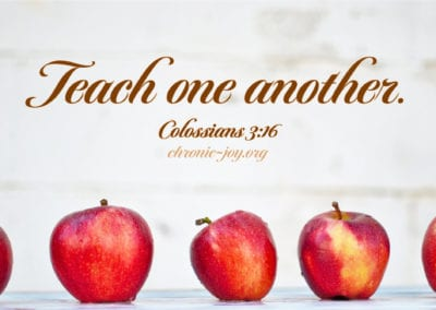 Teach one another.