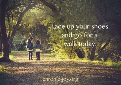 Lace up your shoes and walk.