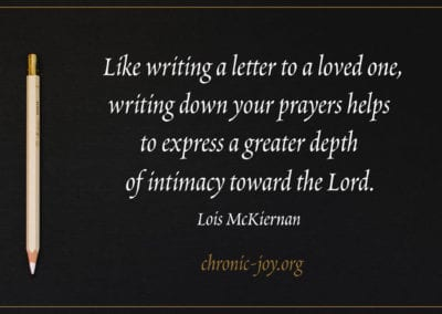 Like writing a letter to a friend, writing a prayer...