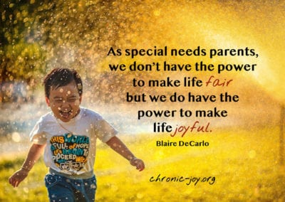 Special needs parents ... power of joy.