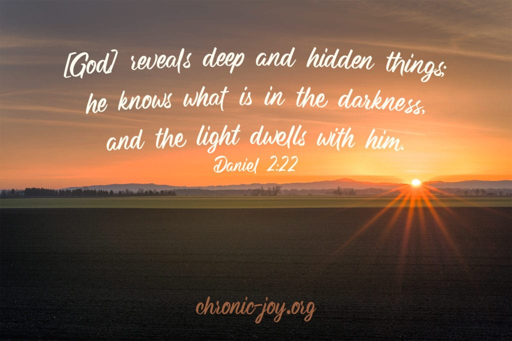 God reveals deep and hidden things