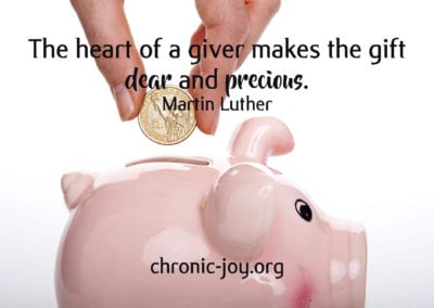 The heart of a giver makes the gift dear and precious.