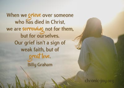 When we grieve over someone...