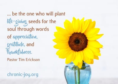 be the one who will plant the life-giving seeds