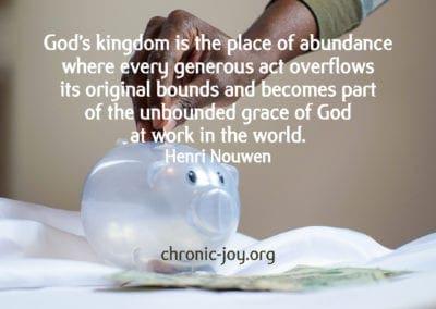 God's kingdom is the place of abundance