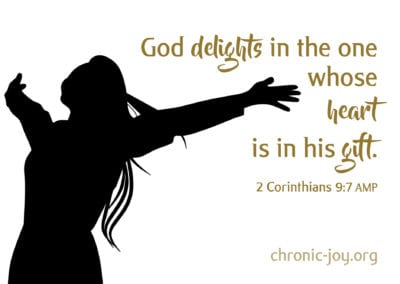 God delights in the one whose heart is in his gift.