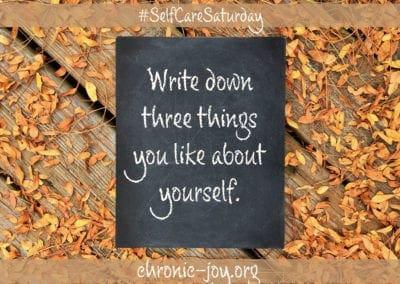 Write down 3 things