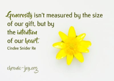 Generosity isn't measured by the size of our gift, but by the intention of our heart.
