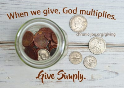 When we give, God multiplies. Give Simply.
