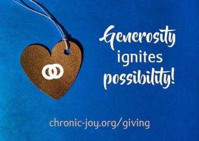 Generosity ignites possibility.