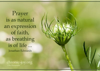 Prayer is as natural expression of faith...